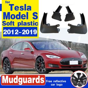 Voiture bavettes pour Tesla Model S 2012 - 2019 boue Rabats Bavettes Garde-boue boue avant Flap garde-boue arrière Protecteur