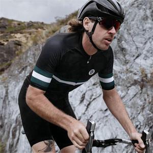 2020 Attaquer Cycl Jersey Equipe gözenekli malzeme Bisiklet Giyim Erkek Seti Maiot Ciclismo MTB Hızlı Kuru triko Önlük Şort Set kiti