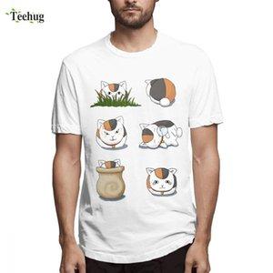 Книга Coolprint аниме Рубашка Нацумэ друзей T Shirt Новый повседневно мужской Nyanko Sensei Настроения Homme футболочку