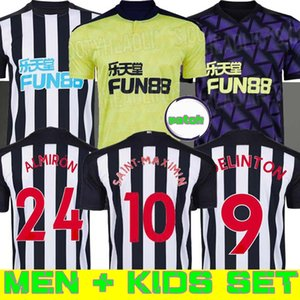 Kit Kids 20 21 Ritchie Jerseys de futebol Home Joelinto 2020 2021 Home Lascelles Shelvey Football Yedlin Camisetas Homens Kit Kit Almirón