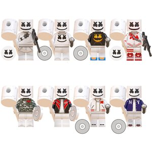 Super Hero Building Figures Marshmello blocs Dj Mask Blocs Films Jeu Vidéo Cartoon Enfants Jouets Cadeaux de Noël