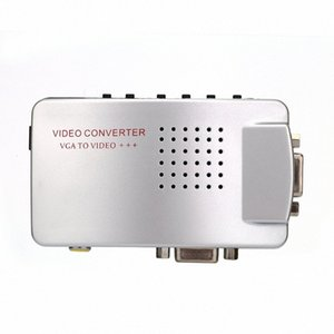 PC Converter Box VGA To TV AV RCA Signal Adapter Converter Video Switch Box Composite Supports NTSC PAL For Computer SVn2#