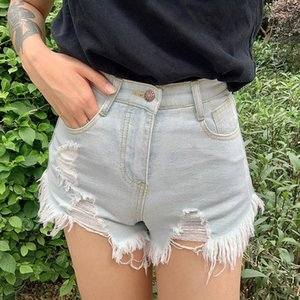 Hole Designer Short Jeans Losse High Waisted Short Jeans Fashion Burrs Shorts Jeans Women Clothes Washed
