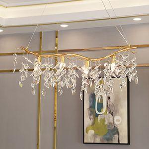 gold crystal chandelier lamp home decoration lighting lustre cristal hanging chandeliers bar light