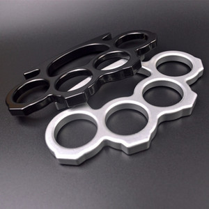 Novo 2021 Metal Self-defesa arma quatro dedos espessos anel dedo aperto punho punho algemas Knuckles liga fivela ferro de quatro dedos