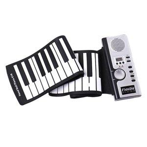Roll Up Piano, Alto-falantes amplificador, teclado de piano portátil (61 Keys) Silicone