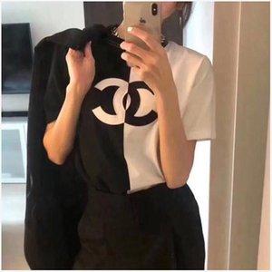Uno sport signora progettista e il tempo libero maglietta allentata e comoda con maniche corte, stampa di cotone di alta qualità, privo di merci