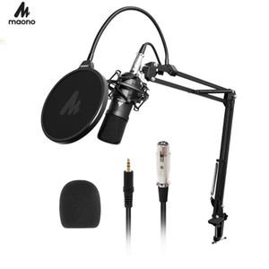 Karaoke Oyun Kaydı için Maoño AU-A03 Kondenser Mikrofon Profesyonel Podcast Mikrofon Ses 3.5mm Bilgisayar Mikrofon