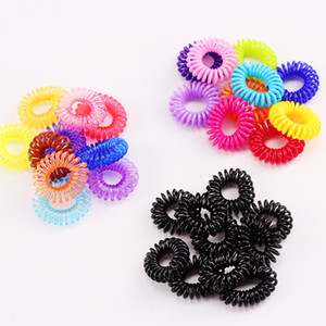 10PCS Lot New 2cm Small Telephone Line Ropes Girls Colorful Elastic Bands Kid Ponytail Holder Tie Gum Hair Accessories