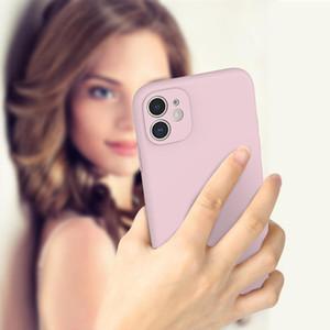 16 Cor da borda de cor TPU Material Caso Capa Anti-Scratch Protective Case para iPhone 78Plus XS XR 11Pro Max 12mini Pro Max