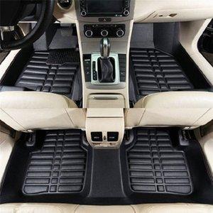 5Pcs Universal Car Floor Mats Auto Anti-Slip Mat Black Car Styling Interior Auto Floor Mats All Weather Mat 5jQv#