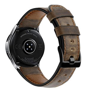 orologio cinturino 22mm per il braccialetto di frontiera galassia orologio 46 millimetri cavallo pazzo cinturino in pelle Gear S3 Huawei 2 gt cinghia 46 millimetri