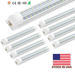 T8 8ft 72W 120 Watt Integrated Tube Light V Shape LED Tube T8 4ft 5ft 6ft 8 ft Cooler Door Freezer LED Lighting