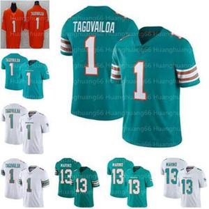 nouveau 1 Tua Tagovailoa MiamiDauphinHommes Femmes Enfants Jersey jeunes de football 13 maillots Dan Marino