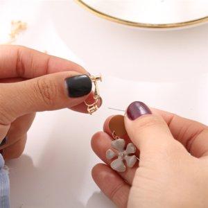 mdFoj anillos clip de convertidor A / tacos plug-in de conversión en pendientes Converter pendiente earringsear videoclip Ningún bebé agujero de la oreja Evangelio