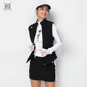 Femmes Golf Gilet sans manches en coton Vestes Épaississement Cyclisme Course à pied Maillots de sport Gilet Gilet Automne Vêtements d'hiver # 18068 JHcn