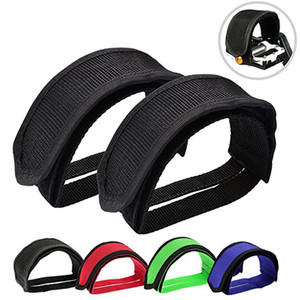 1pair Nylon Bicycle Pedal Straps Toe Clip Foot Strap Belt Adhesivel Bicycle Pedal Tape Fixed Gear Bike Cycling Cover