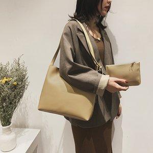 2020 Новый стиль для осени и зимы сумка Все матча Женская сумка моды ковшовые сумка Двухсекционный разного размера сумки Корейский стиль одно плечо Mes