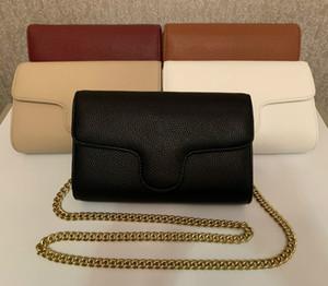 2020 Fashion nouveau sac à main en peau de mouton Caviar d'or chaîne en métal d'argent de haute qualité Sac à main en cuir Sac à bandoulière flip diagonale