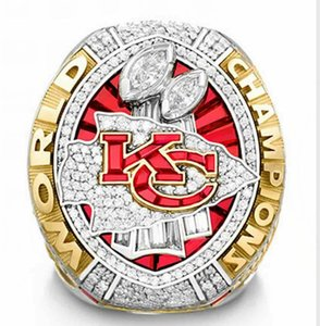 taille 8-14 2020 cadeaux gros Kansas City Chiefs 2020 Championnat du monde Anneau TideHoliday pour les amis + boîte