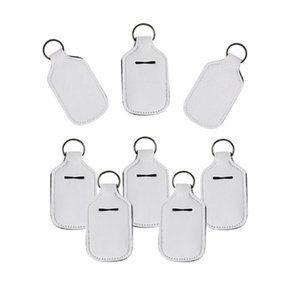 30ml дезинфицирующее средство для рук держатель бутылки Blank ЦВЕТА неопрена жидкого мыла держатель бутылки брелок сумки DDA406