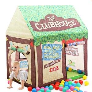 Jarda do jogo Tent For Kids Castle House Cubby dobrável Toy Bebê Tent Playhouse Ao Ar Livre Interior Toy Crianças Tent para o Natal presente LJ200923
