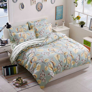BEST.WANSD printing flamingo bedding 100% Cotton 3d bed linen duvet cover queen king double Botany A complete set of bedding
