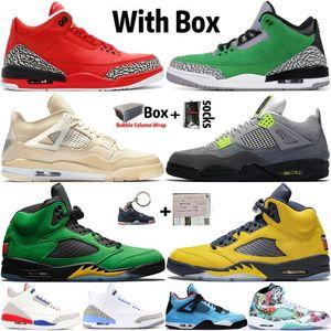 2020 nueva llegada de calidad superior Jumpman 4 4s Zapatos de Vela de neón de baloncesto del Mens 3 3s agradecido Tinker 5 5s Formadores Michigan zapatillas deportivas