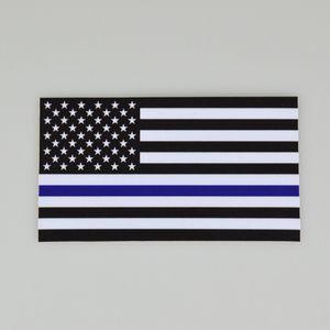 DHL رقيقة الأزرق الأسود الخط علم الولايات المتحدة الأمريكية لصائق لسيارات شاحنات الحاسوب 6.5 * 11.5CM سيارة العلم US نافذة ملصق مائي لاصق السيارات-التصميم