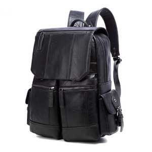 Schule-Rucksack-Frauen Handtaschen Portemonnaie Leder Handtasche Schultertasche Big Rucksäcke Casual Men Taschen Plain / Floral / Letter
