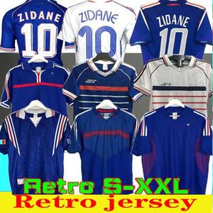 1998 FRANÇA RETRO 2002 Camisas de futebol ZIDANE HENRY Maglia PÉ 1996 2004 1984 Futebol 86 camisa de Trezeguet 1982 finais 2006 branco