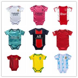2020/21 jersey bébé Real Madrid Espagne Italie de football manches courtes Jumpsuit 20 21 DANGER RAMOS ASENSIO MBAPPE 6-18 mois bébé Soccer Jersey