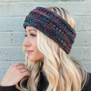 Örgü at kuyruğu Kafa Örme Tığ Geniş Hairband Kadınlar Kış Headwrap hairbands Kulak Isıtıcı Kulaklıklar GGA2893 ayVs #