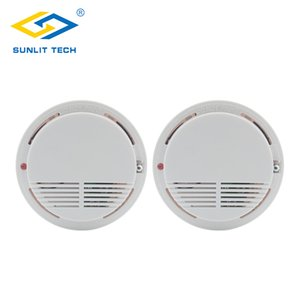2pcs Wireless Fire Smoke Detector 433Mhz High Sensitive Fire Alarm Sensor Monitor Tester for Home Office Shop Security System
