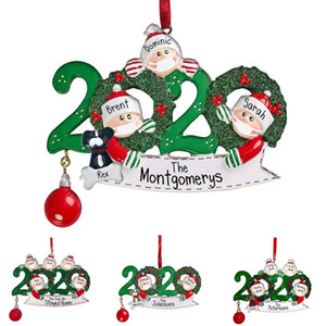 christmas ornaments 2020 winter DIY name blessings face mask snowman wearing mask bell face mask snowman Christmas tree hanging pendant
