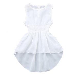 Clearance Excelent New Mesh Toddler Baby Girls Kids Sleeveless Solid Summer Party Princess Dress Clothes Z0205