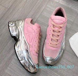 Designer Sneaekers Raf Simons surdimensionné Sneaker hommes chaussures femmes chaussures de marque de luxe en vigueur Silver Metallic Sole Sport Entraîneur f1 K07