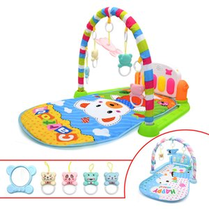 Baby Music Rack Play Mat Kid Rug Puzzle Carpet With Piano Keyboard Cute Animal Playmat Early Education Gym Crawling Game Pad toy 200925