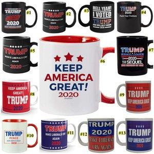 Trump Kaffeetassen Wahl U.S.A. Make Amerika Große Trump Ceramic Coffee Milk Cup Donald Trump Handgriff- Ceramic Cups 13 Farben DHD776