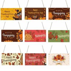 Acción de Gracias Muestra de madera decoración de Halloween decoración de la pared de venta Inicio Muestra de madera Fiesta de la familia De Noche Decoraciones colgantes de la placa DHC149