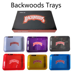 7 couleurs Backwoods Glow Plateau éclairage LED roulant Holder Bar Entertainment à base de plantes à sec herbes Dab Plateau avec boîte au détail Sac Carry