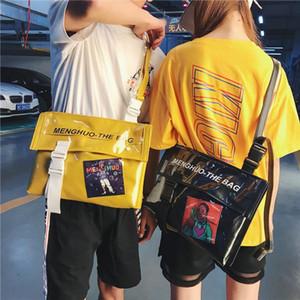Unisex Klare Transparente Umhängetasche Mode Frauen Nette Tasche Candy Farbe Taschen Männer Geldbörse Handtaschen Messenger Crossbody Bag