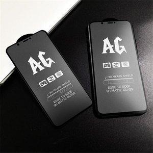 Matte AG completa vetro temperato per iPhone 11 X XS XR 8/7 6 6s plus della protezione dello schermo 9H Temper vetro senza Box 500PCS