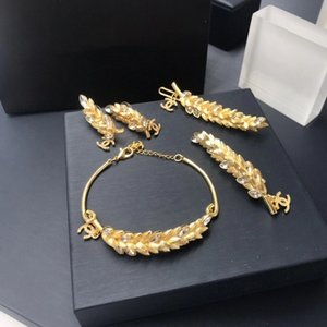 European and American fashion hot selling diamond bracelet trend high - end bracelet hair clip earrings set