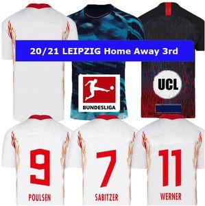 2020 CL نسخة Leipziges لكرة القدم الفانيلة 20/21 الدوري الألماني الدوري OLMO POULSEN ADAMS فورسبرغ قمصان كرة القدم NKUNKU SABITZER كرة القدم الزي الرسمي