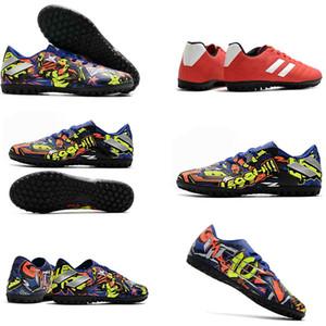 Shoes Chuteiras New Style Messi Nemeziz 19,4 TF do futebol dos homens Grampos Mens Futebol baratos Futebol Botas sapatos futsal