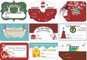 90pcs 10sheets 2020 New Merry Christmas Written Handmade Cake Packaging Sealing Label Kraft Sticker Baking DIY Gift Stickers