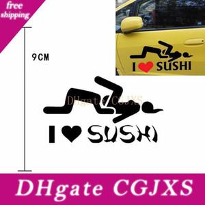 I Love Sushi Aufkleber Auto Aufkleber Reflektierende Motorrad Aufkleber Helm Scratch Lustige Aufkleber für Opel Vw Bmw Ford Car Styling