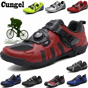 Cungel Sapatilha Ciclismo Cycling Shoes Road Men Racing Road Bike Shoes Self-locking Bicycle Speakers Athletic Professional jwEJ#