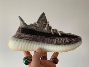 Haut Basf Bas usine Qualité V2 Chaussures 2020 New Kanye West Israfil Soufre Zebra Oreo Desert-Sage Tail Lumière GID Hommes Femmes Courir Chaussures de sport
